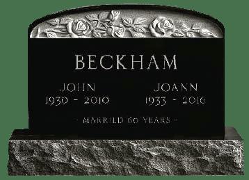 upright memorial headstone