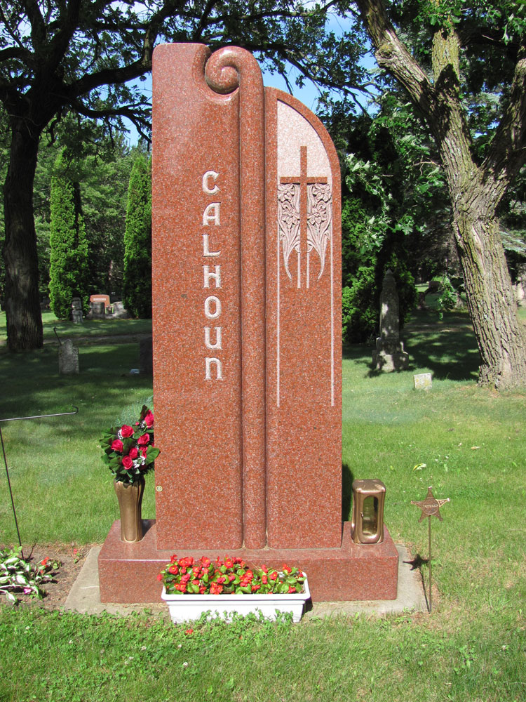 companion upright memorial headstone