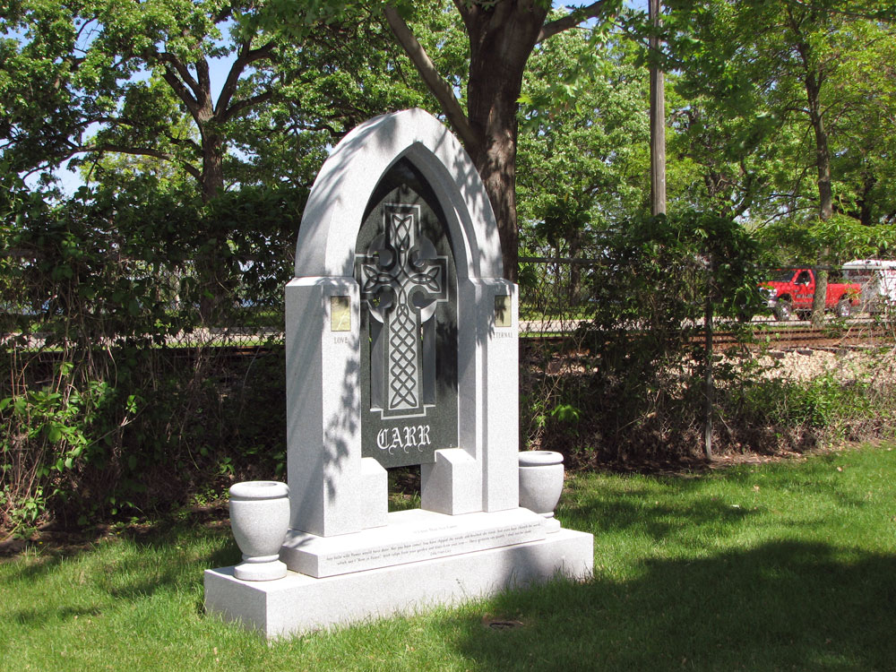 individual upright memorial headstone