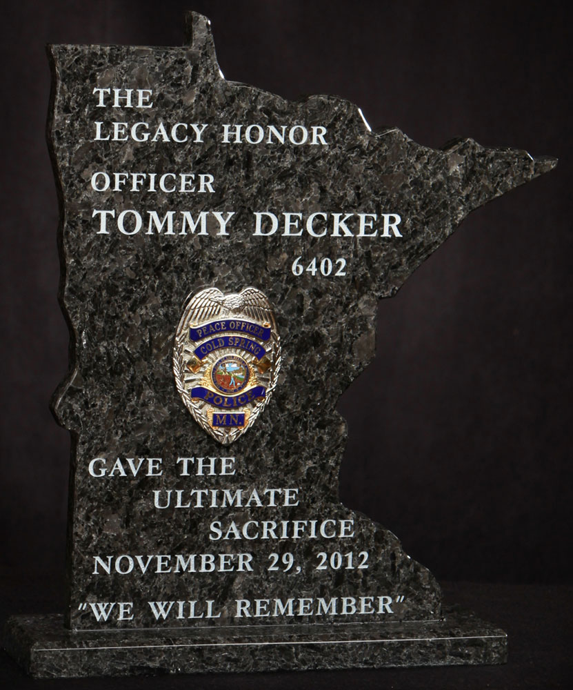granite remembrance plaque