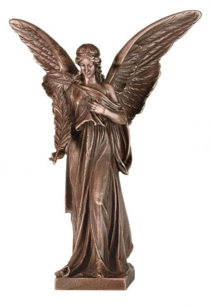 Bronze Angel Statue memorial accessory