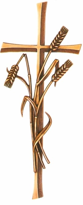 Bronze Cross and Wheat memorial accessory
